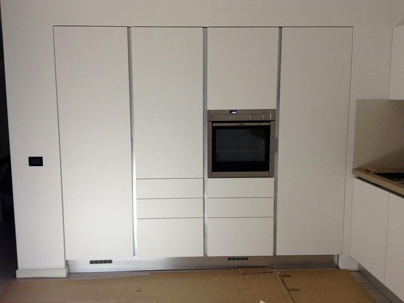 Cucina laccato bianco opaco
